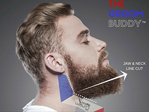 beard shaping tool the groom buddy for men 39 s facial hair hairline perfect. Black Bedroom Furniture Sets. Home Design Ideas