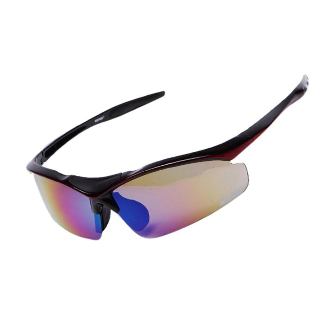 Suma-mama Unisex Riding Sun Glasses Eyewear Goggle UV400 Lens,Outdoor Sport Cycling Sunglass (BK)
