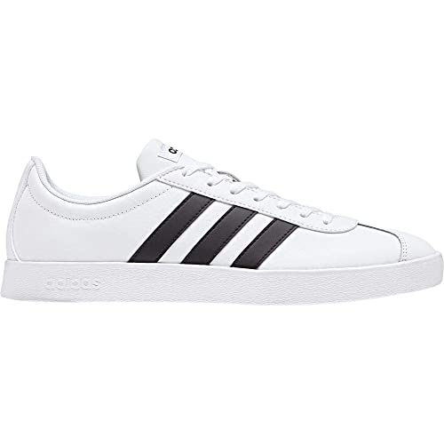 feb297511b2 adidas Men s Vl Court 2.0 Skateboarding Shoes FTWR White Core Black ...