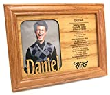 "Daniel, Name Profile, Personal Picture Frame Size 7""x5"", Inset 4""x3"" Solid Wood Cut Design, Made in America, We Loved You the Best"