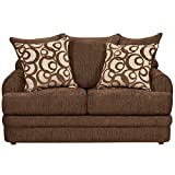 Flash Furniture Walnut Chenille Loveseat 4650 Series 4652CALIBERWALNUT-GG