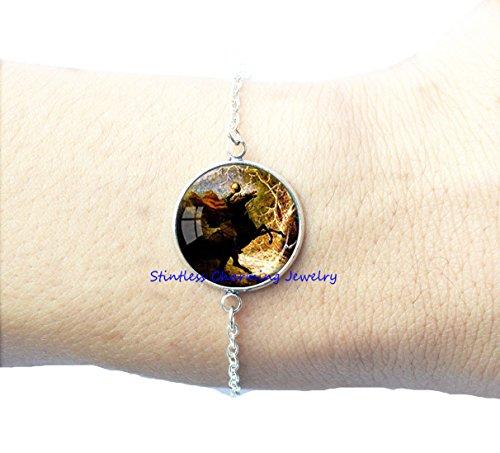 Halloween Jewelry Headless Horseman Bracelets Halloween Bracelet Horse Lover Gift Halloween Costume Bracelet -
