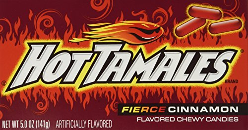 Hot Tamales, Fierce Cinnamon Chewy Candy, Theater Box Style, 5oz Box (Pack of 6)