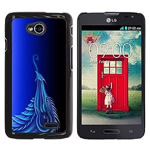 LECELL -- Funda protectora / Cubierta / Piel For LG Optimus L70 / LS620 / D325 / MS323 -- Blue Dragon --