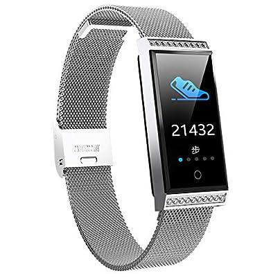 AZZSA Fashion Smart Bracelet Fitness Tracker Heart Rate Sleep Monitor Waterproof Sports Wristband Men s and Women s Bracelet Calorie Pedometer Estimated Price £51.99 -