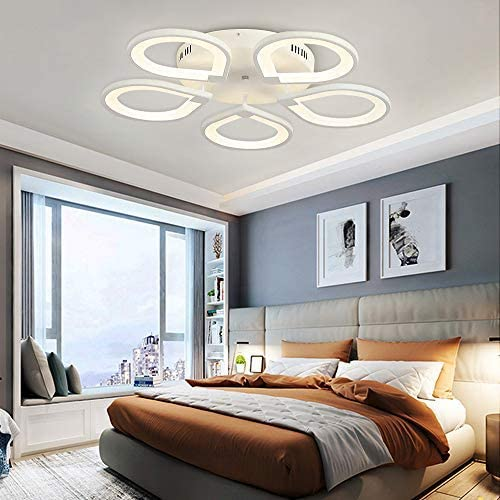 26in LED Ceiling Light Fixture with Remote Control Modern Flush Mount Chandelier 75W Close to Ceiling Lighting Fixtures Ceiling lamp for Living Room Bedroom Kitchen