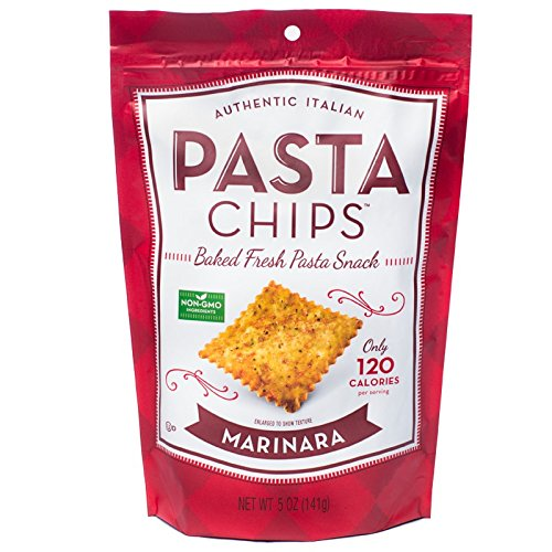 Pasta Chips, Marinara Vegan Non-GMO snack, 5 Ounce