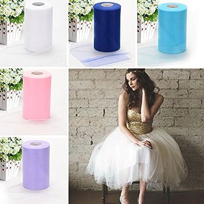 Haperlare 6 Inch x 200 Yards (600FT) Tulle Rolls Spool Tutu Skirt Fabric Wedding Party Gift Bow Craft