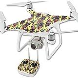MightySkins Protective Vinyl Skin Decal for DJI Phantom 4 Quadcopter Drone wrap cover sticker skins Electric Cicada