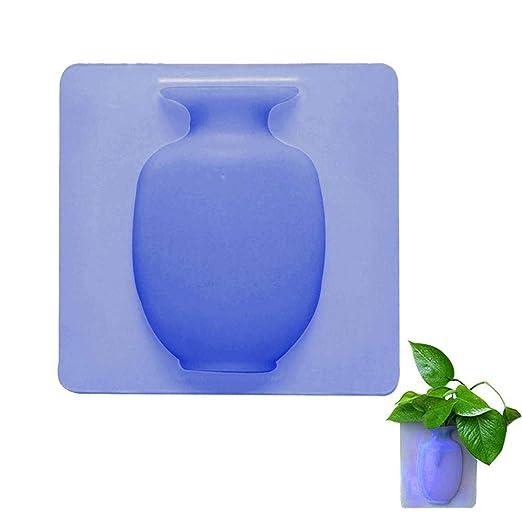 Volwco Jarrón de silicona, pequeño florero, jarrón extraíble ...