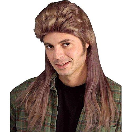 Long Brown Mullet Wig (Halloween Costume Rentals)