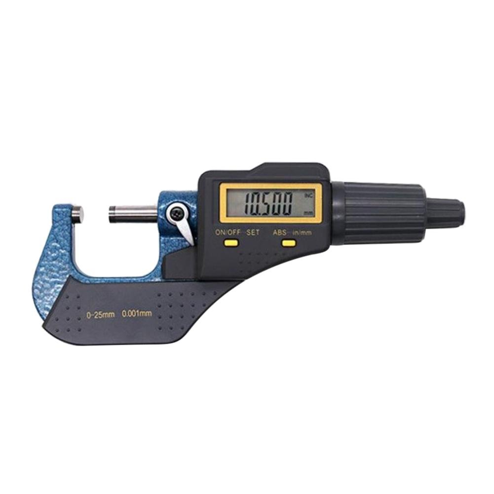 Demiawaking 0-25mm Digital Micrometer External Electronic Gauge Caliper Measuring Tool 0.001mm Resolution Inch/Metric Conversion DemiawakingUK