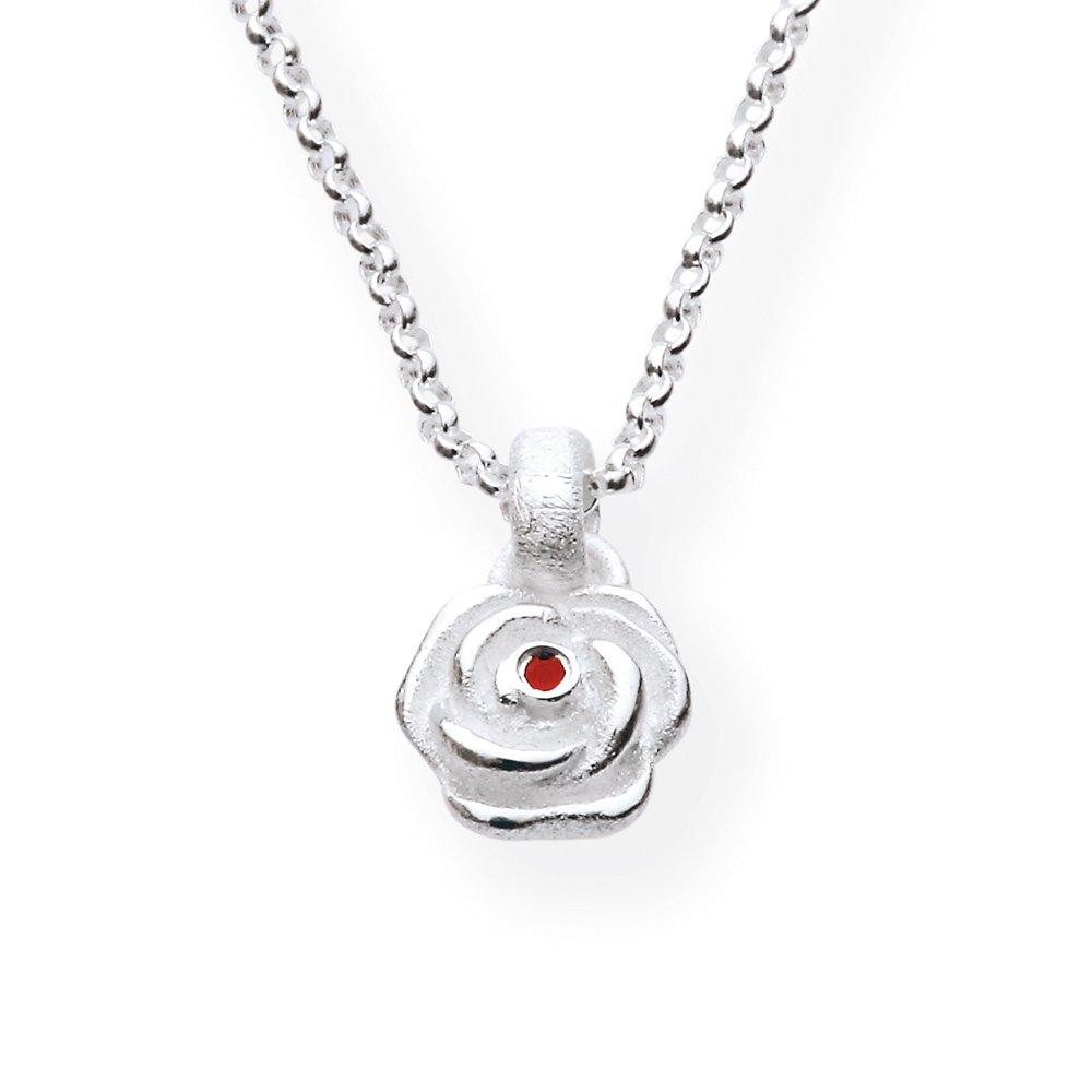Heartbreaker Damen- Anhänger Hildegard k.925 Silber Brillantschliff Rubin rot LD HK 31 RP Drachenfels B005DWXF02