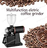 Chef Essentials Commercial coffee grinder black color Continuous work automatic protection device coffee bean machine Small round hard bladed disc bean mill grinder (600N)