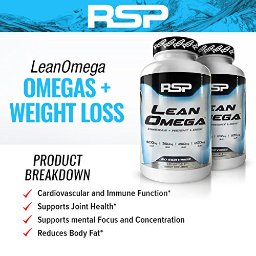 Rsp leanomega fish oil cla capsules high epa dha omega for Omega 3 fish oil weight loss