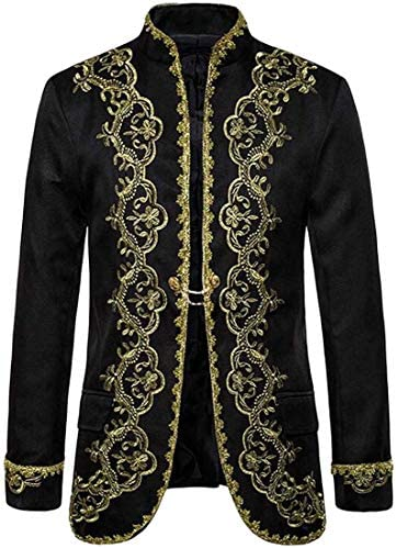 [해외]Men Court Prince Embroidery Suit Jacket Blazer Prom Party Dinner Tuxedo / Men Court Prince Embroidery Suit Jacket Blazer Prom Party Dinner Tuxedo