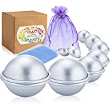 (US) Caydo 8 Set 5 Sizes DIY Metal Bath Bomb Mold 16 Pieces for Crafting Your Own Fizzles