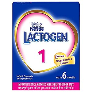 Nestlé LACTOGEN 1 Infant Formula Powder (Up to 6 months), Stage 1 – 400g Bag-In-Box Pack