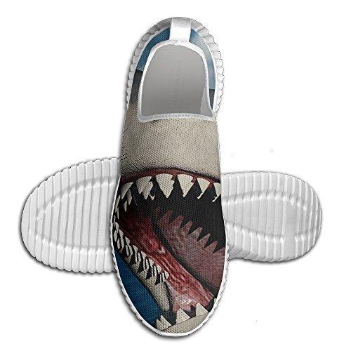 Broche Féroce Chaussures De Course De Requin Pour Hommes Tout Impression Photo Chaussures De Sport