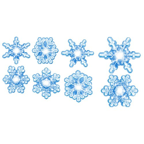 18 in. to 27 in. Frozen Winter Wonderland Snowflake Cutouts Standup Photo Booth Prop Background Backdrop Party Decoration Decor Scene Setter Cardboard Cutout -