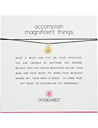 """Dogeared Make A Wish Accomplish Magnificent Things Black Necklace, 16"""""""