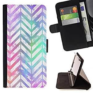 Momo Phone Case / Flip Funda de Cuero Case Cover - Patrón iridiscente trullo púrpura - HTC Desire 820