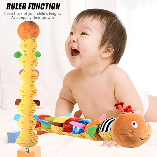 LIGHTDESIRE Musical Toy Caterpillar [Newest] Crinkle Rattle Soft with Ring Bell Toddler Plush Toy for Preschool Kid by LIGHTDESIRE (Image #3)