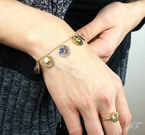 Kids name bracelet, custom birthstone bracelet for mom, mother jewelry, custom name, mothers day gift for mom, grandmother mother (Mothers Mom Name Bracelet)