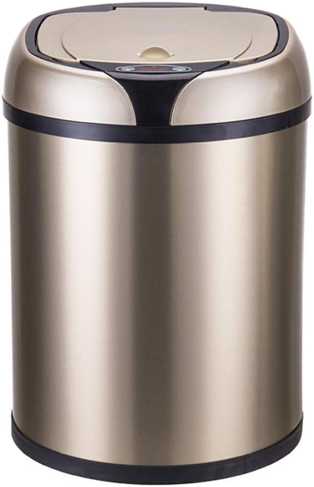 JLDN 8L / 2.1ガロン自動ゴミ箱 非接触、キッチンゴミ箱 ふた付き モーションセンサー ゴミ箱 インテリジェント ゴミ箱 大容量,Gold