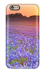Durable Protector Case Cover With Blue Lupine Field Digital Hot Design For Iphone 6