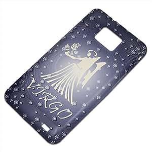 Zodíaco Virgo, Embossed Caso Carcasa Funda Duro Gel TPU Protección Case Cover, Diseño con Textura en Relieve para Samsung S2 i9100 i9200.