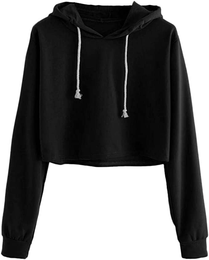 Moginp Sweatshirt for Women,Womens Hoodie Casual Long Sleeve V Neck Pullover Tops Hooded Sweatshirt Jumpers with Pockets