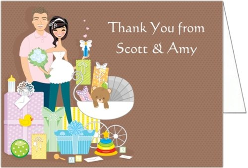 amazoncom baby shower gifts couple shower baby shower thank you cards set of 20 baby
