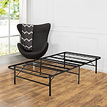 zinus compack 6 leg support bed frame for box spring mattress set twin kitchen. Black Bedroom Furniture Sets. Home Design Ideas
