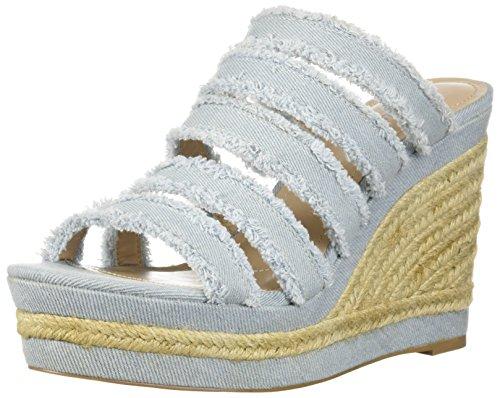 Charles Av Charles David Womens Lojal Kile Sandal Lyseblå. sko; tekstil;  importert; syntetisk såle; plattform ...