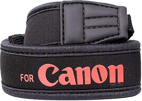Camera Black Neoprene Neck strap for Camera Canon