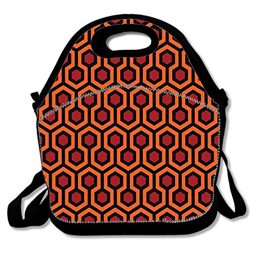 Hi Res The Shining Overlook Hotel Room 237 Carpet Pattern Insulated Neoprene Lunch Bag/Lunch Box/Lunch Tote/Picnic Bag Lightweight Handbag Gourmet Food Containers for Women,Men,Girls, Kids