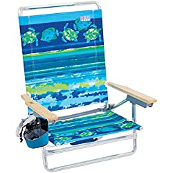 Rio Beach Classic 5 Position Lay Flat Folding Beach Chair - Fish & Turtles