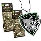 Rhino USA Auto Air Freshener - Black Ice Scent (2 Pack) Best Hanging Air Freshener for Car, Truck, SUV