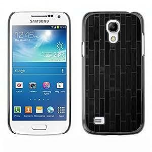 iBinBang / Funda Carcasa Cover Skin Case - Ladrillo azulejos líneas modelo gris oscuro - Samsung Galaxy S4 Mini i9190 MINI VERSION!