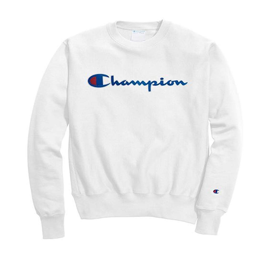 Champion Life Men's Reverse Weave Sweatshirt, Chainstitch Script GF70 Y07471