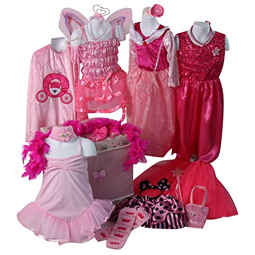 Girls Ultimate Pink Princess Dress Up Trunk Age 4-7 Years -