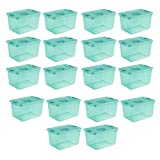 Sterilite 64 Quart Fresh Scent Stackable Plastic Storage Box Container (18)