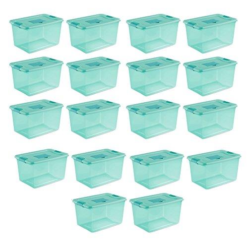 Sterilite 64 Quart Fresh Scent Stackable Plastic Storage Box Container (18) by STERILITE
