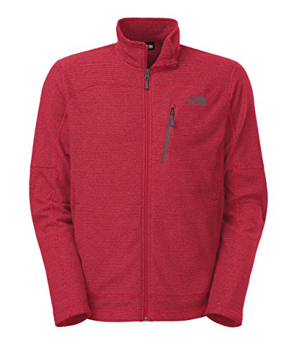 Endeavor Full Zip Jacket (The North Face Texture Cap Rock Fleece Jacket - Mens Tnf Red, M)