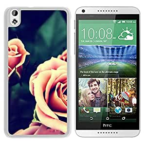 Vintage Pink Roses Closeup (2) Durable High Quality HTC Desire 816-1 Phone Case