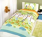 JUNGLE GREEN LION GIRAFFE ZEBRA MONKEY TWIN COTTON DUVET QUILT COVER #EIGOOB ELGNUJ