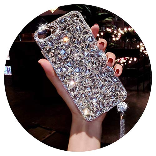 Pendant Nim - Jewelled Rhinestone Crystal Diamond Soft Back Pendant Phone Case Cover for iPhone X 6s 7 8 Plus 5 SE XR Xs Max 1 for iPhone Xs Max,1,ForiphoneXs