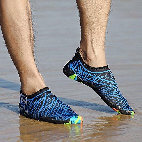 BUIMIN Chancletas Zapatillas Adolescente-Unisex Atractiva Transpirable Para Playa Casual Moda Verano Color Azul/Verde/Rosa Oscuro/Blanco Talla 36/37/38/39/40/41/42/43/44 (36, Azul)
