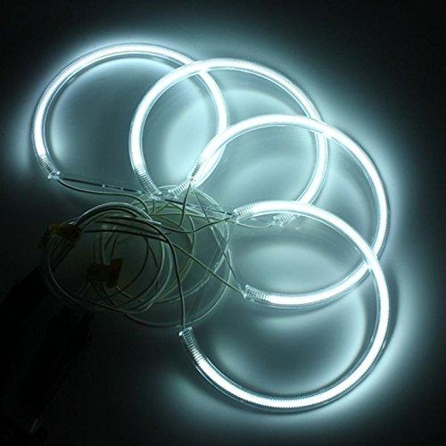 KT SUPPLY 4*131mm CCFL Angel Eyes Halo Ringe Standlicht Ringe Xenon Weiss